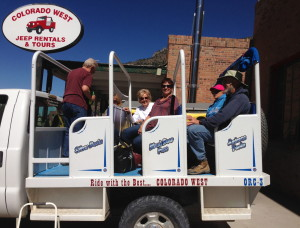"Our ""tour bus""--made for a really rough ride on the mountain paths!"